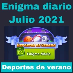 Enigma diario Julio 2021 Deportes de verano